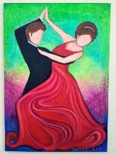 Love Couple Dance, painting by Snehita
