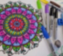 Mandala and Sharpies