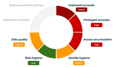 Example of identity risk assessment result
