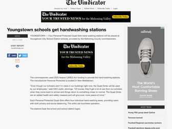 Youngstown schools get handwashing stations