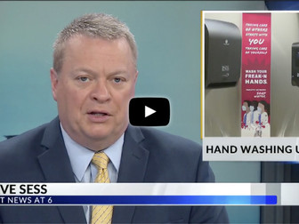 WKBN News: Handwashing stations placed around YSU campus ahead of fall semester - VIDEO CONTENT