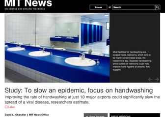 MIT News: Study: To slow an epidemic, focus on handwashing