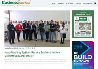 Hand-Washing Stations Restore Business for New Middletown Manufacturer