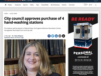 City council approves purchase of 4 hand-washing stations