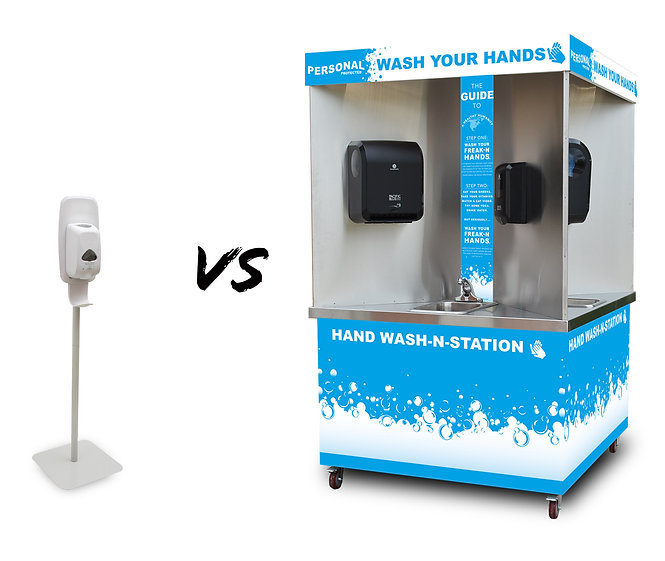 hand wash station, hand sanitizer, personal protected