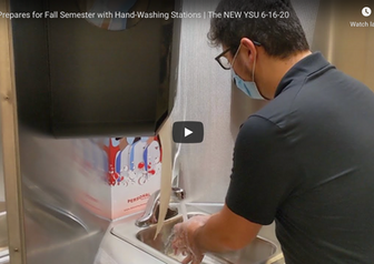 The Business Journal: YSU Unveils Hand-Washing Stations for Students' Return - VIDEO