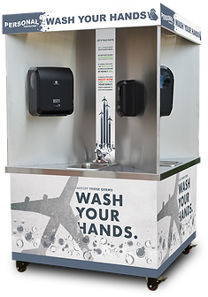 Personal Protected, Quad-sink, hand wash station, mobile