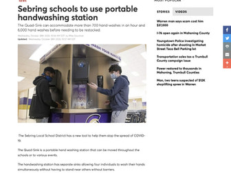 Sebring Schools to use Portable Hand Washing Station