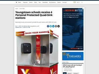 Youngstown schools receive 4 Personal Protected Quad-Sink stations