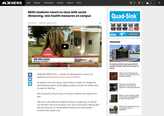 BGSU students return to class with social distancing, new health measures on campus