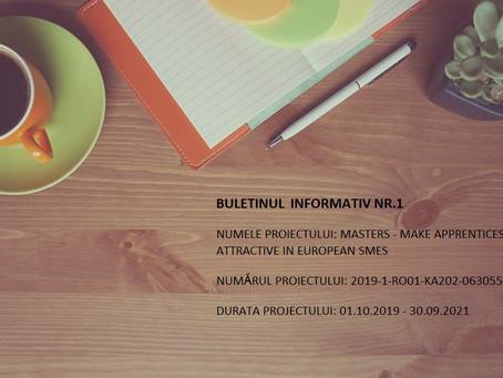 MASTERS - BULETINUL  INFORMATIV NR.1