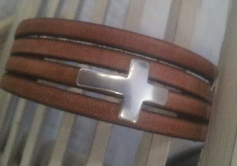 Cuir  vintage croix