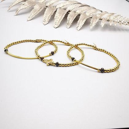 """Bracelet """" Incontournable """" doré"""