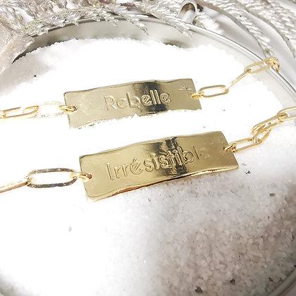 """Bracelet """" Qui suis je """""""