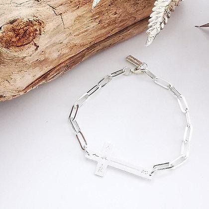 Bracelet chaîne croix