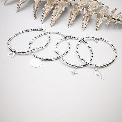 Bracelet perles d'argent