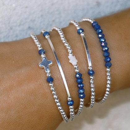 """Lot Bracelet """" Incontournable """" perle d'argent"""