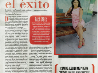 Mexican Magazine Perfil features Cynthia Bravo on her July 2015 edition