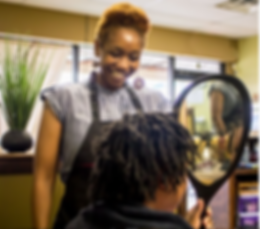 Free natural hair and loc harstyle consultations at hair salon near conyers georgia