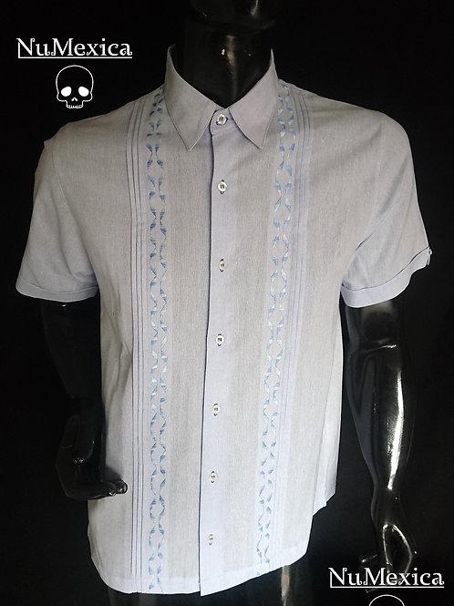 Camisa tipo Guayabera lila