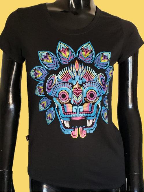 Blusa modelo. Quetzalcoatl azul