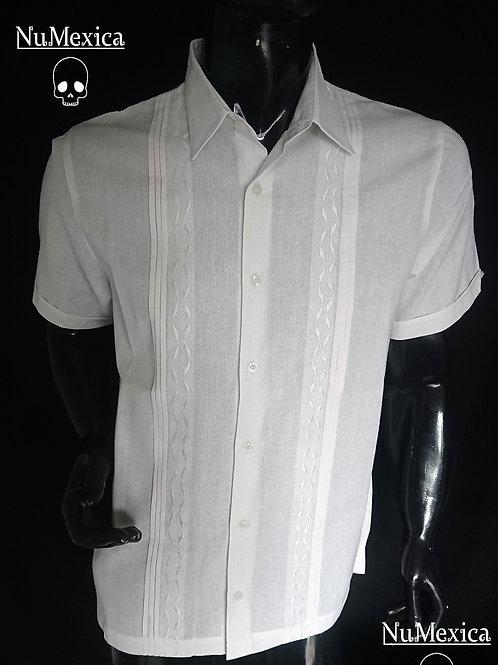 Camisa tipo guayabera blanca
