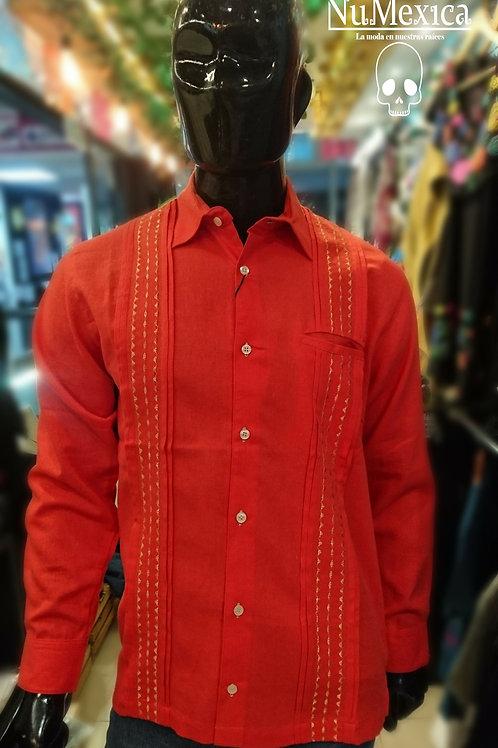 Camisa guayabera manga larga