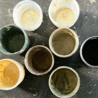hand made casein paint