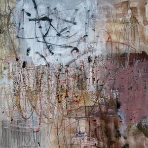 'Wish' mixed media on board (sold oak fr
