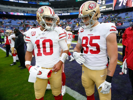 George Kittle and Jimmy Garoppolo suffer major injuries: out multiple weeks