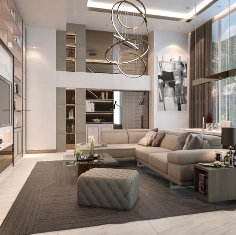 Living Room Design, Marylebone, London