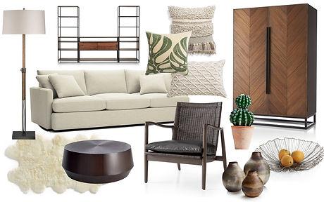 Interior design collage. Mood board inte