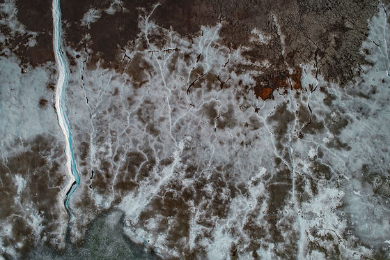 Aerial View of a Barren Land