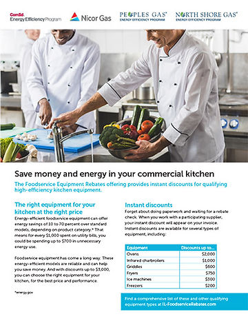 Illinois Foodservice Rebates fact sheet