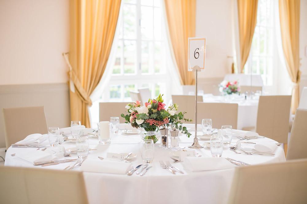 Photographe mariage décoration à l'Orangerie à Mondorf, Luxembourg