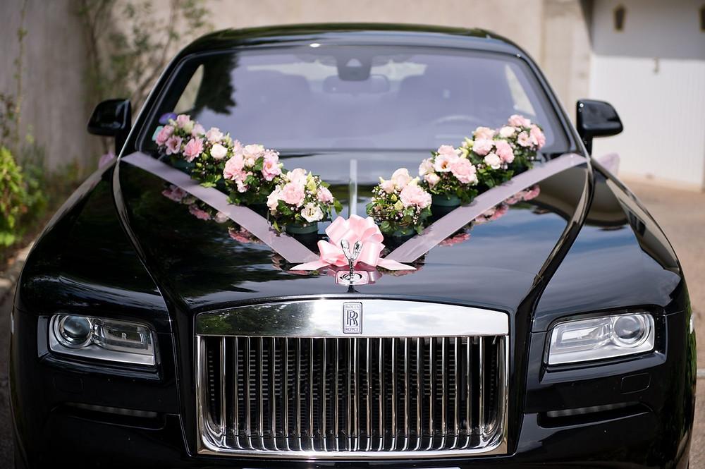 Photographe mariage metz décoration voiture