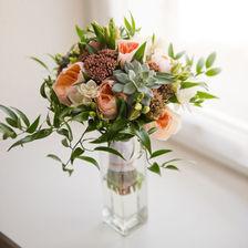 Photographe de mariage à Metz, bouquet de fleurs de la mariée