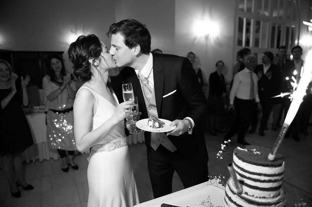 Photographe mariage pièce montée à l'Orangerie à Mondorf, Luxembourg