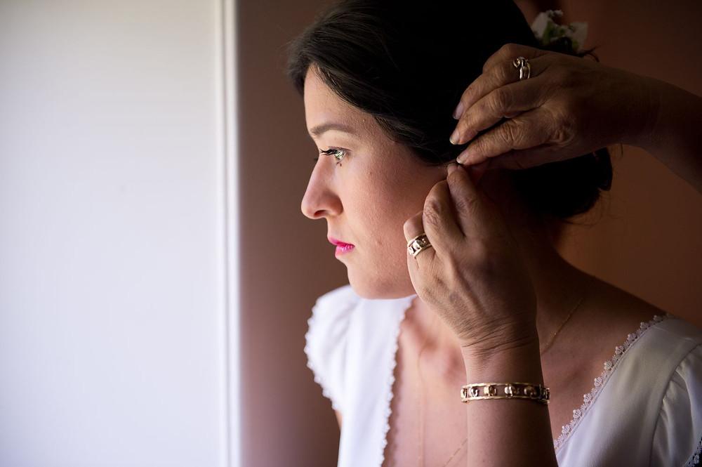 Photographe mariage préparatifs maquillage