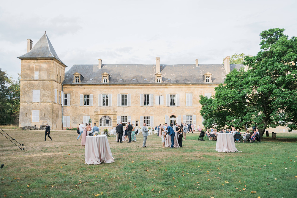 photographe mariage vin d'honneur château de preisch