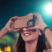 I am Cardboard virtual reality glasses