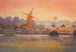 Old Windmill at Dusk