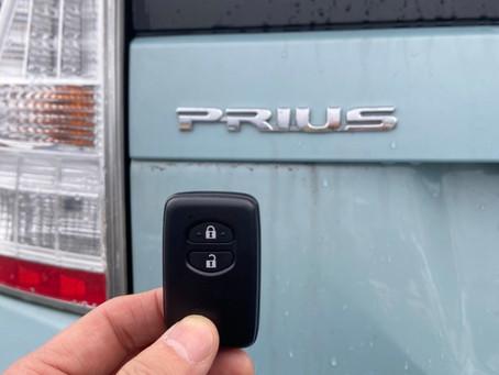 平成23年式 トヨタ プリウス 紛失キー作製 復旧作業 富山の鍵屋