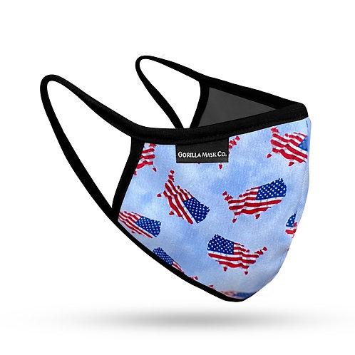 USA American Flag Mask (2 Pack)