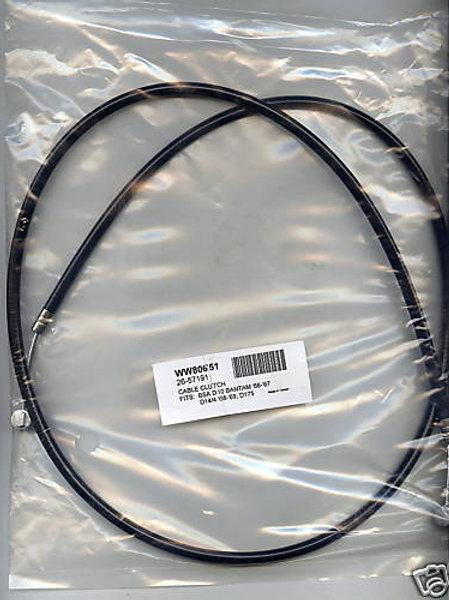 BSA Bantam D10, D14/4 & D14/4S Clutch Cable, 80651