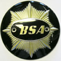 Petrol Tank Badges, Black & Gold, 28869.
