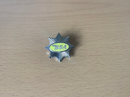 Yellow BSA Star Logo'd Lapel Badge. LB12D