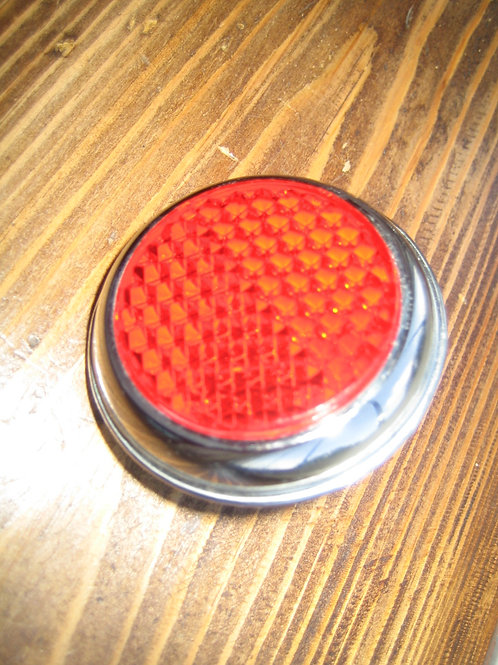 Red Rear Reflector With Chrome Bezel, 19102P