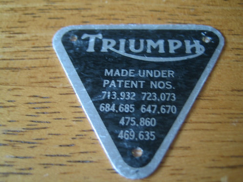 Triumph Patent Plate, 70-4016
