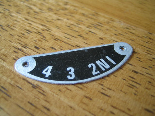Triumph Gear Indicator Plate, I413